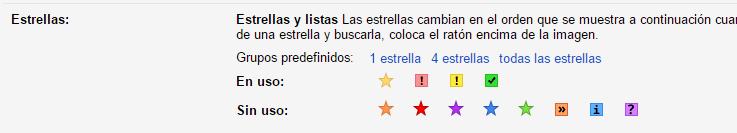 Estrellas-Gmail