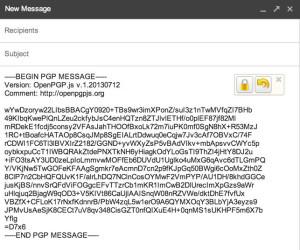 Esto es lo que parece un correo electrónico encriptado .