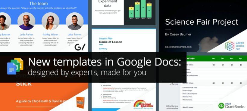 Google Docs introduce plantillas diseñadas por expertos