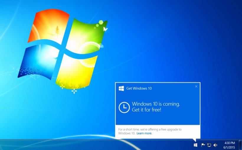 Microsoft incluye publicidad de migrar a Windows 10 en parche de seguridad