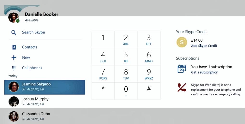 Skype para Web ahora puede llamar a teléfonos fijos y más