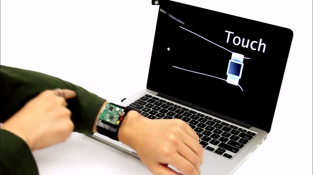 SkinTrack convierte tu brazo en una interfaz táctil para smartwatches