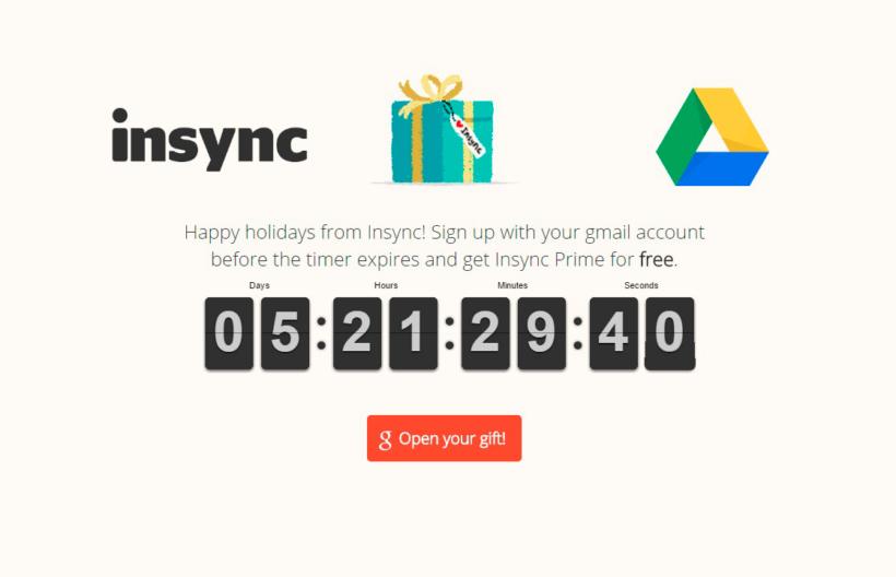 Google Drive InSync es gratis por Navidad