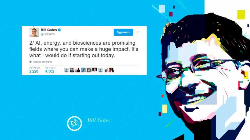 Tweets de Bill Gates para graduados