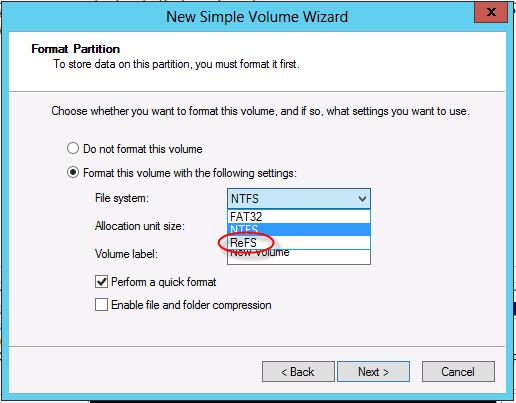 ReFS en Windows Server