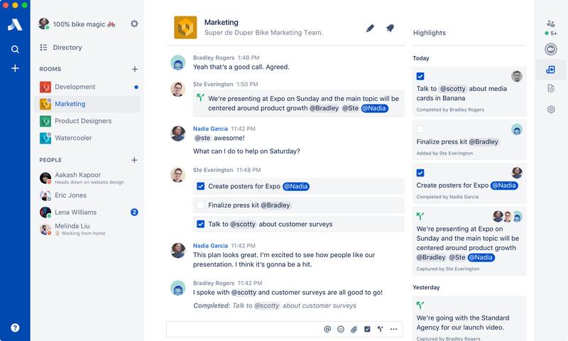 Chat Grupal Atlassian Stride
