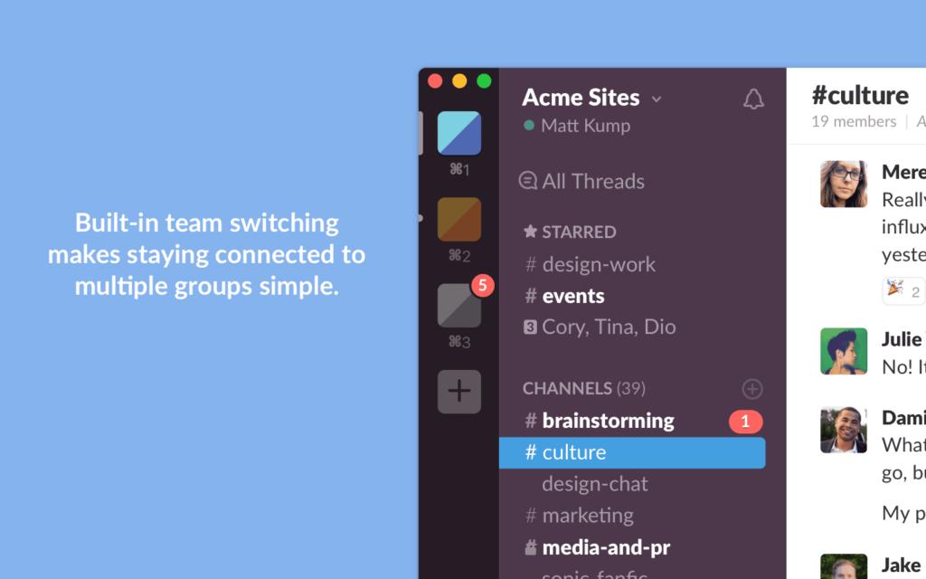 Grupo de Chat con Slack