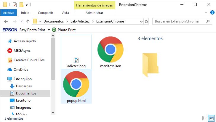 Crear Extensión básica Chrome