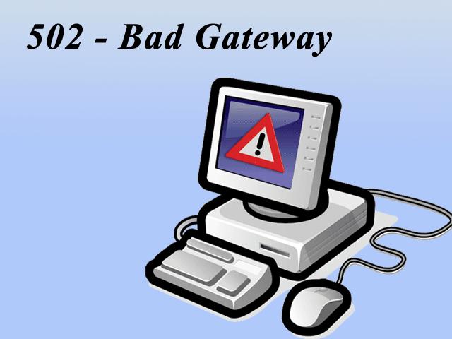 Qué es502 Bad Gateway