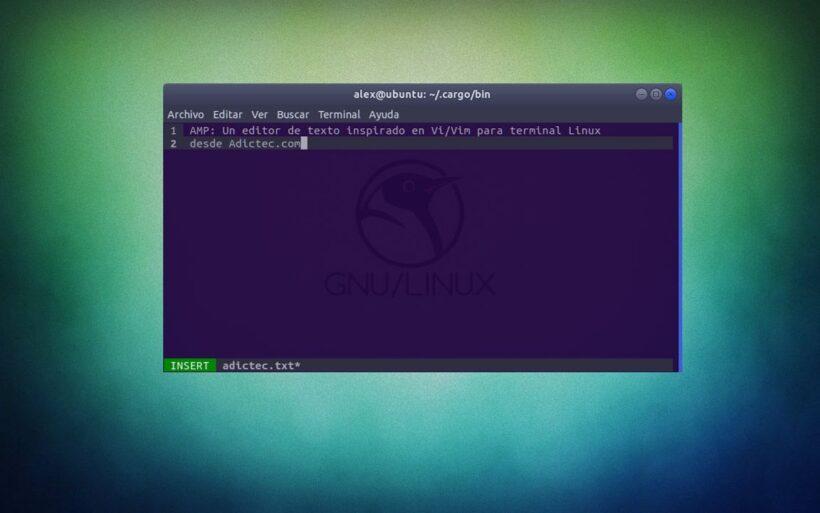 AMP Editor de Texto Linux