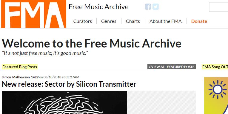 Música libre de derecho de autor con Free Music Archive