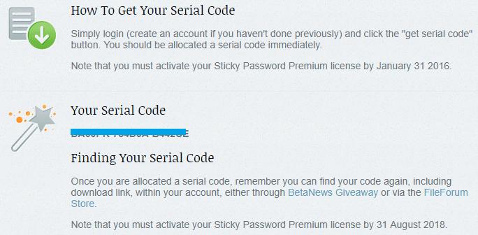 Código de licencia Sticky Password Premium