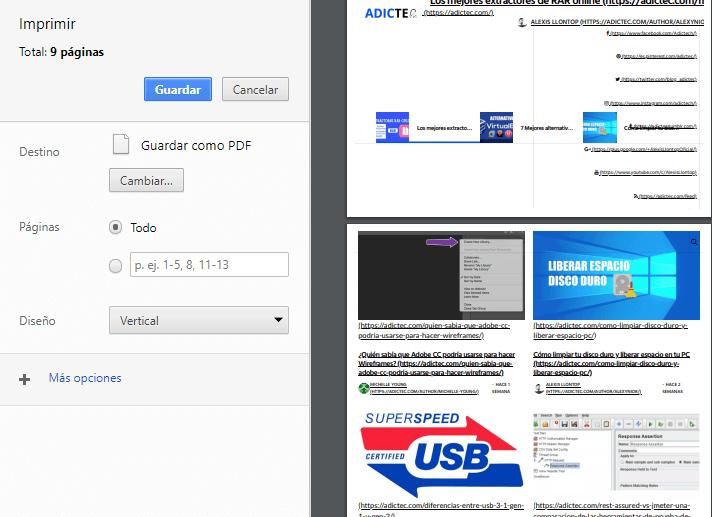 Destino Guardar como PDF