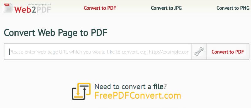 Web2PDF para convertir web en PDF