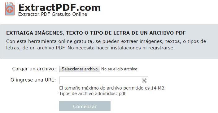 Extraer fuentes de PDF con ExtractPDF