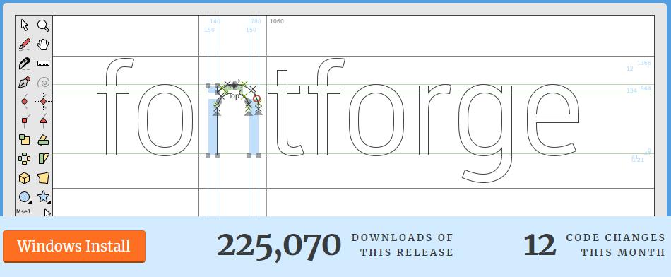 Software FontForge para extraer fuentes PDF