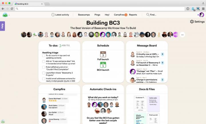 Basecamp para gestión de proyectos