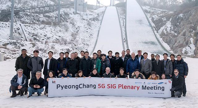 Demostración 5G SIG de KT en Pyeongchang
