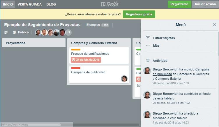 Trello para gestión de proyectos