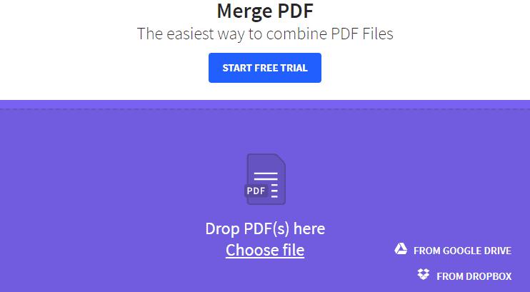 Unir PDF sin programas con Smallpdf