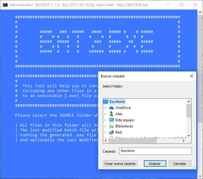 Convertir Script BATch a EXE