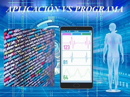 aplicación vs programa