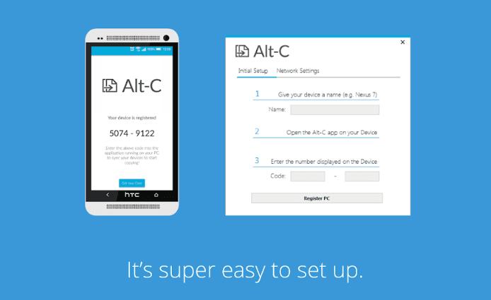 ALT-C Copiar portapapeles entre PC y Smartphone