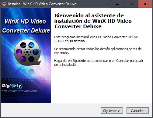 Instalar WinX HD Video Converter Deluxe