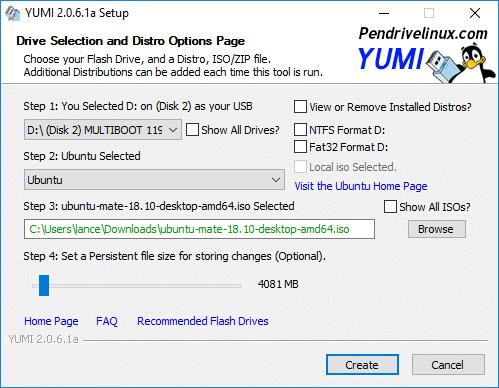 USB de arranque con YUMI