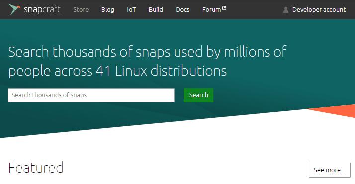 Aplicaciones Linux con Snap Store