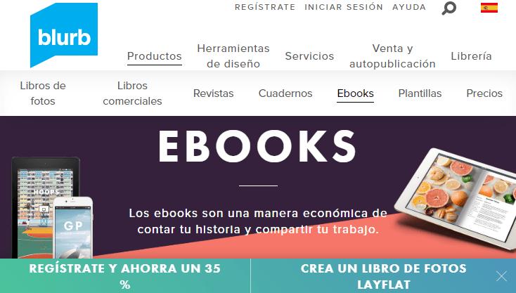Crear y vender ebooks con Blurb