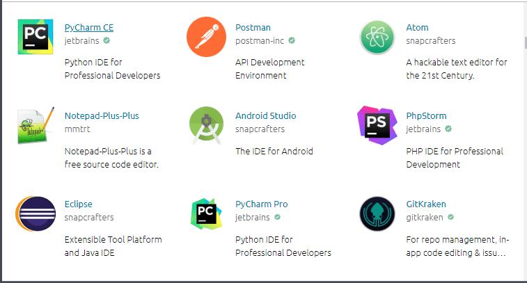 Snap Store para aplicaciones Linux