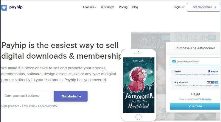 Vender Descargas Digitales y Membresías con Payhip