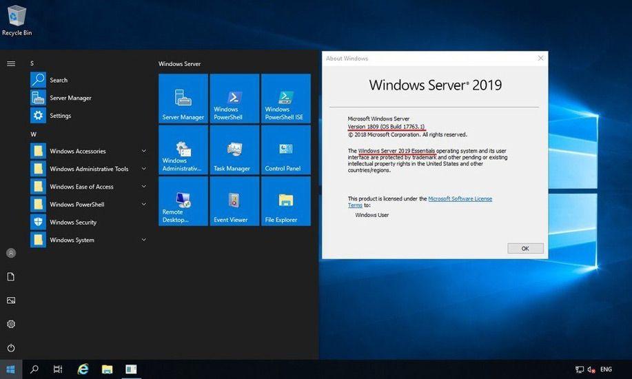Windows Server con software empresarial
