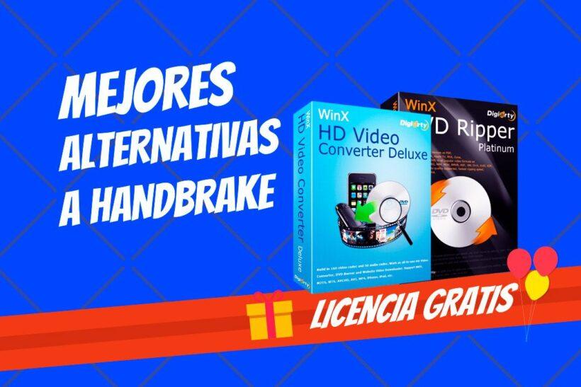 Mejor alternativa HandBrake WinX DVD Video Converter Licencia gratis
