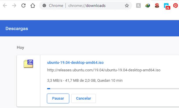 Reanudar descargas con Administrador de descargas de Chrome