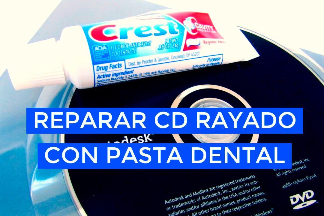 Reparar CD rayado con pasta de dientes
