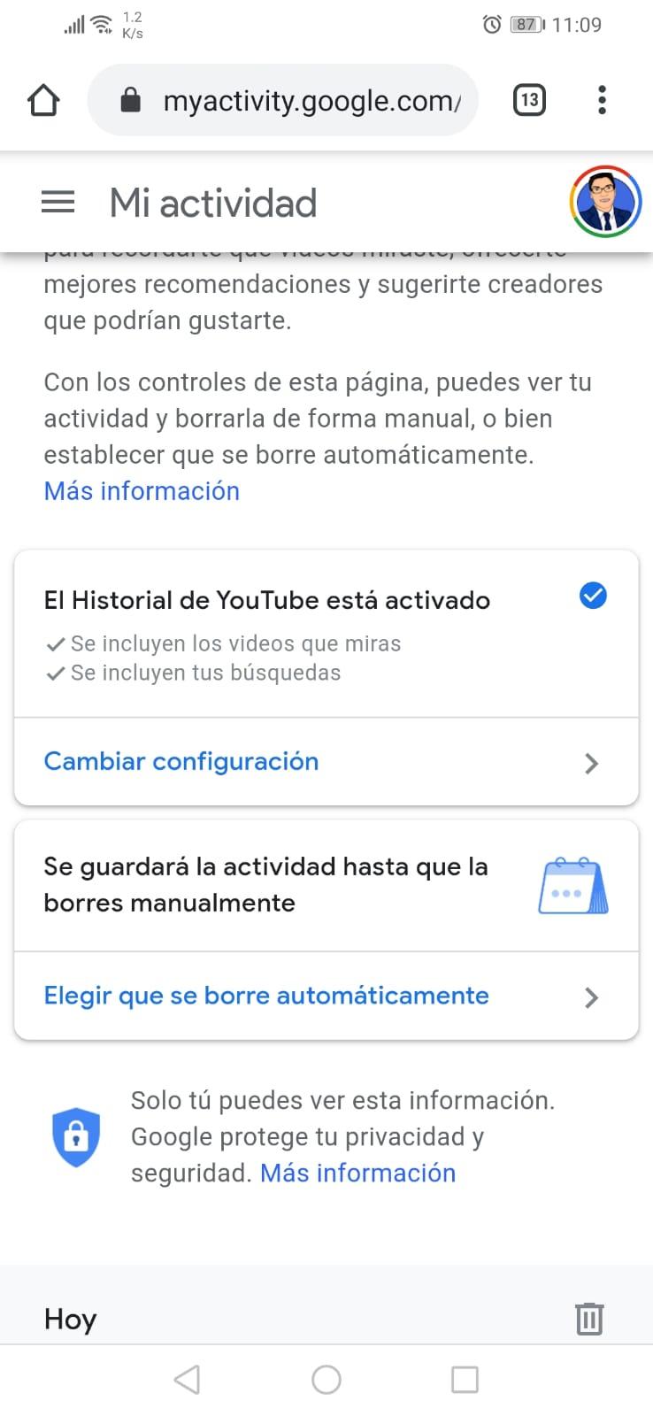Elegir que se borre automáticamente en Youtube