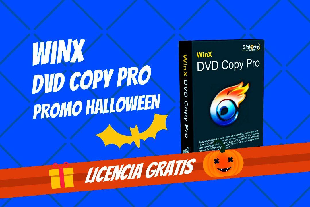 Licencia gratis de WinX DVD Copy Pro Promo Halloween