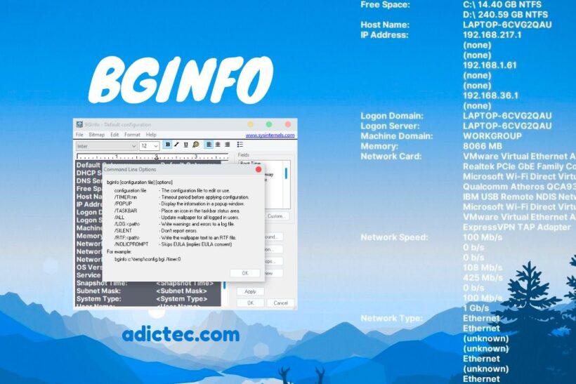 BgInfo Mostrar información del sistema en escritorio
