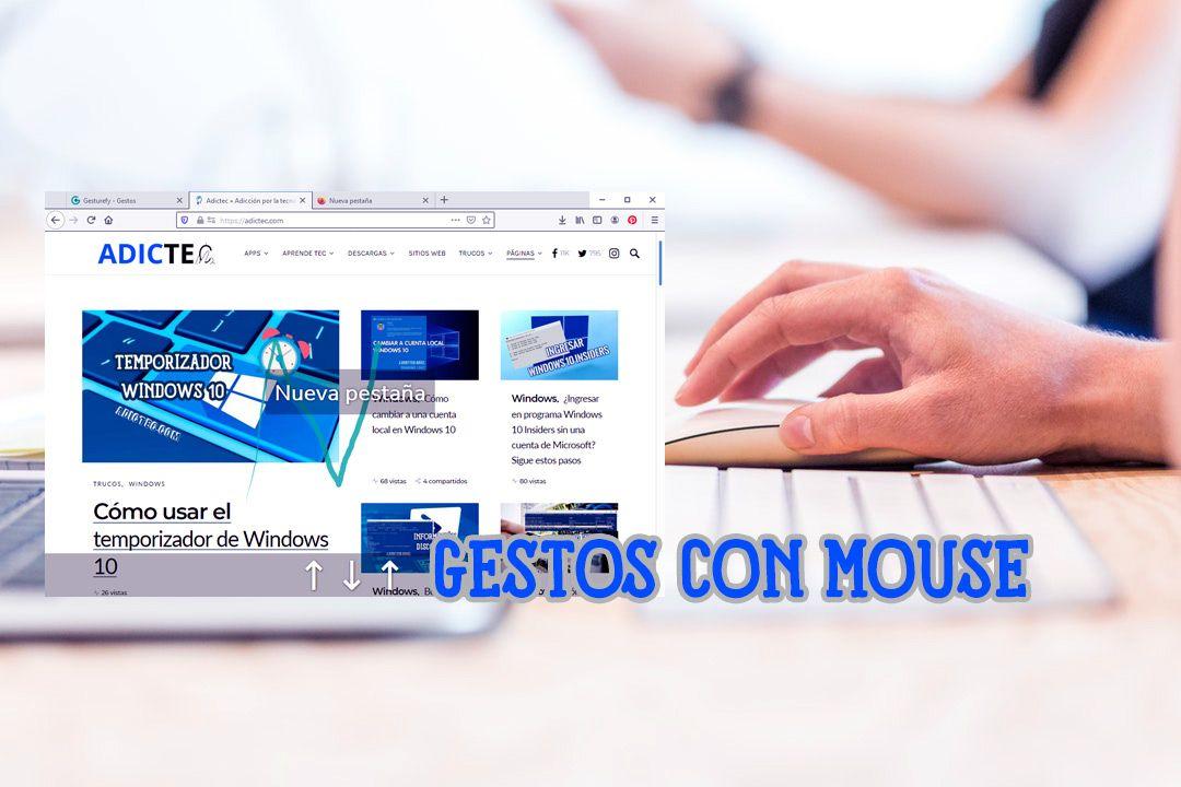 Ejecutar gestos con mouse en navegador
