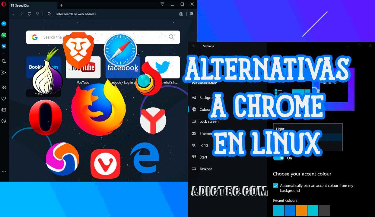 Mejores alternativas Google Chrome en Linux