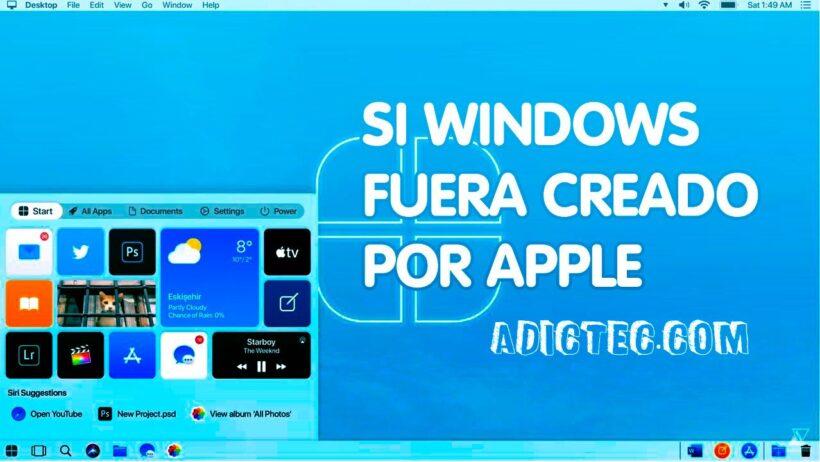 Si Windows 10 fuera desarrollado por Apple