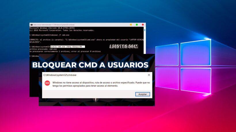Bloquear acceso al CMD usuarios específicos