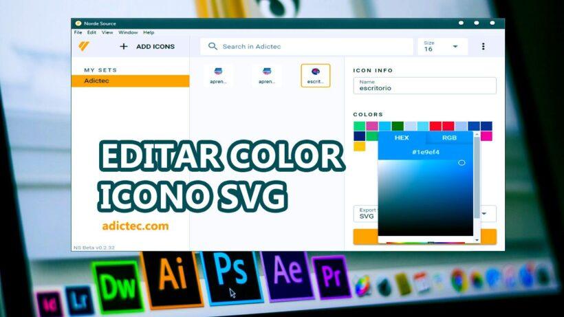 Editar color icono SVG Windows 10